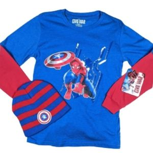 Marvel 🕸️ Spider Man Shirt & Beanie Bundle